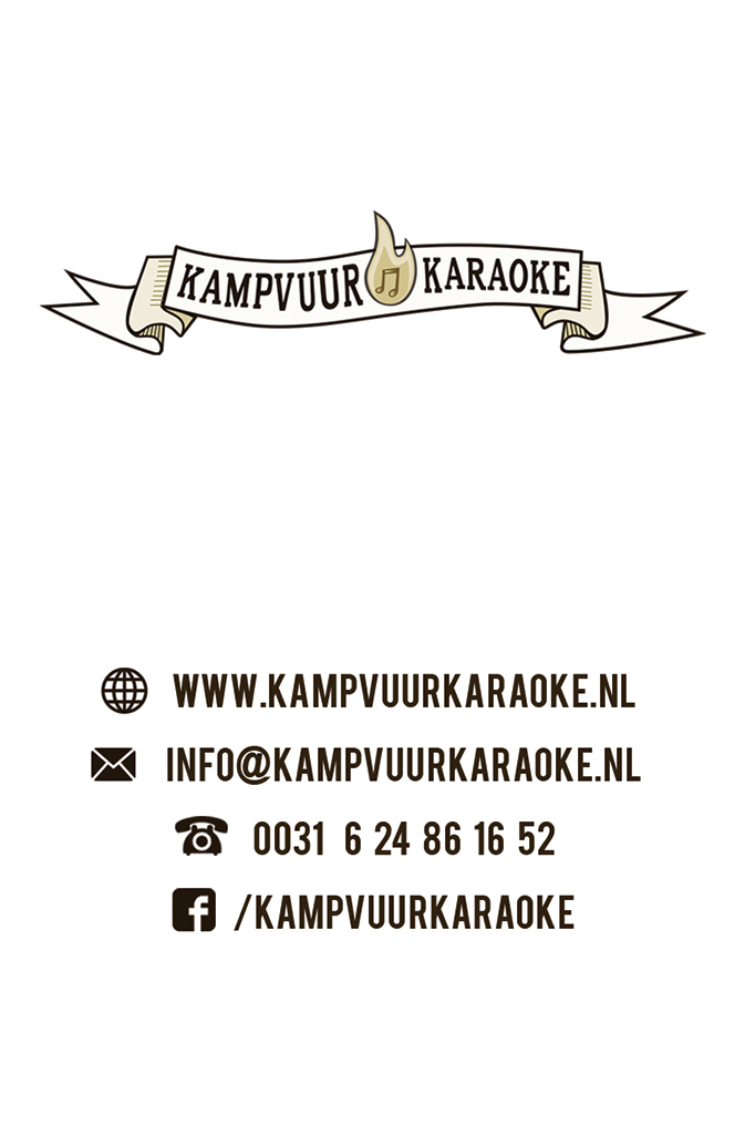 KAMPVUUR KARAOKE business card