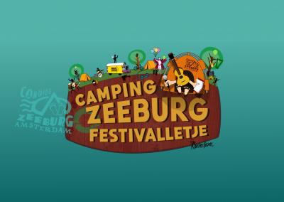 CAMPING ZEEBURG FESTIVALLETJE flyer & blokkenschema