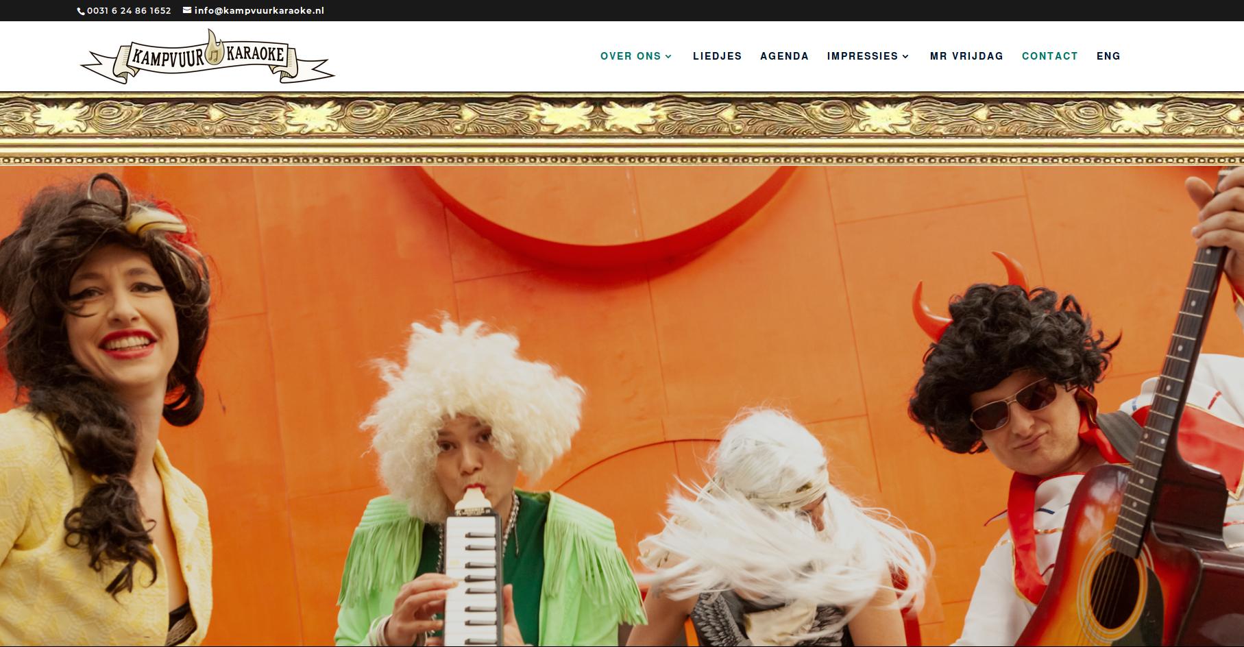 KAMPVUUR KARAOKE homepage
