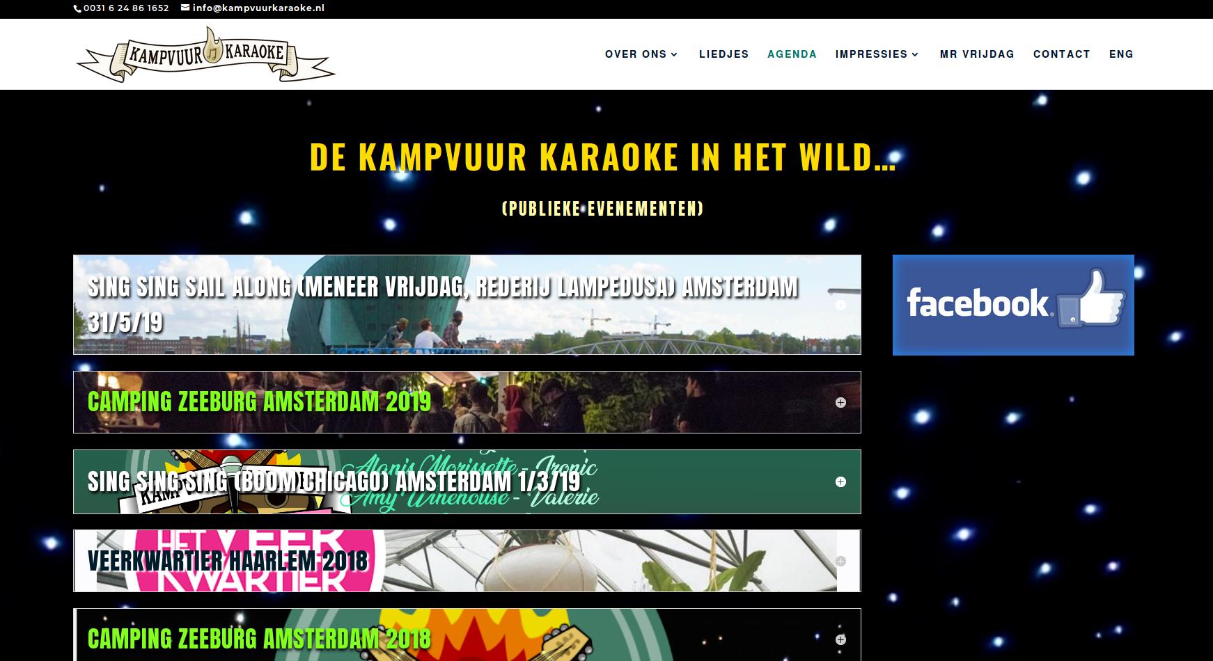 KAMPVUUR KARAOKE event page