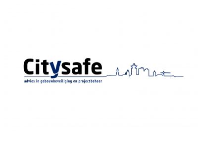CITYSAFE logo en briefpapier
