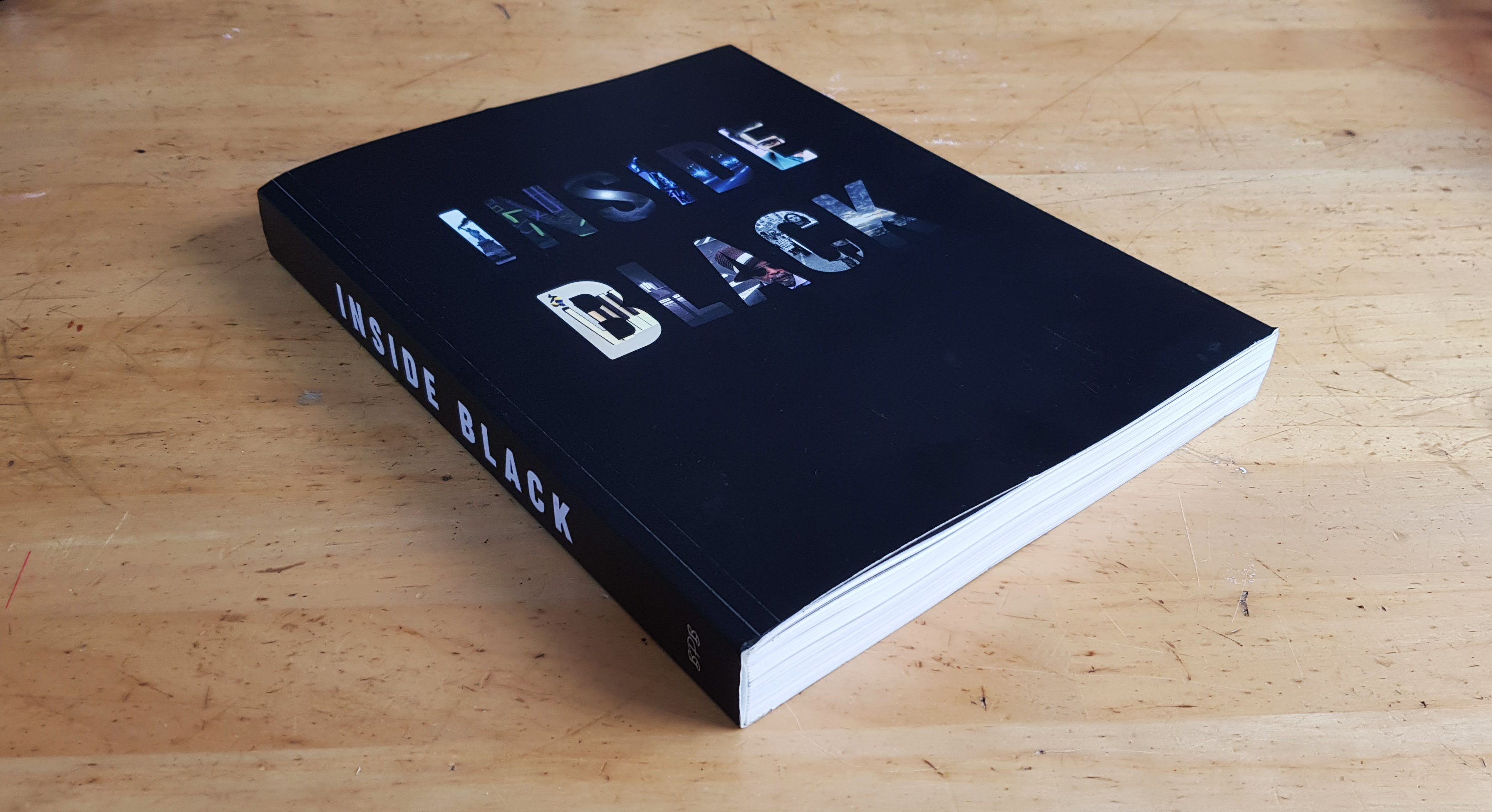 INSIDE BLACK book cover and lay out